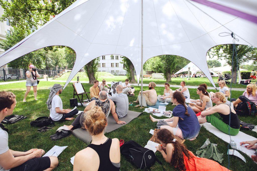 День йоги в Музеоне 26.06.2016